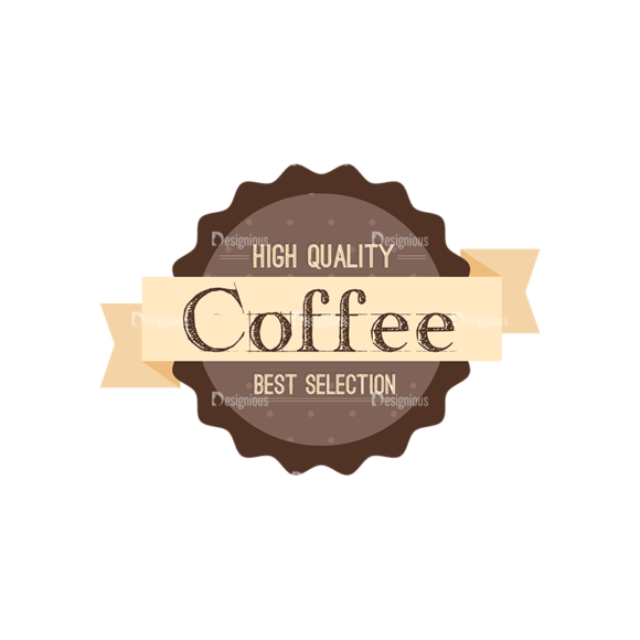 Coffee Badges 09 Food drinks Coffee Badges 09 preview