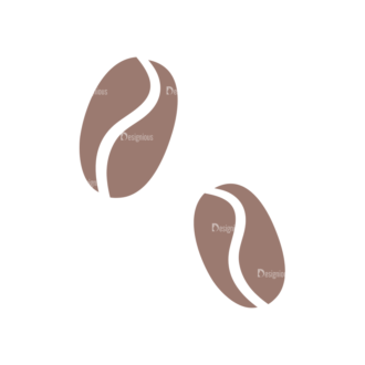 Drinks Coffee Beans Clip Art - SVG & PNG vector