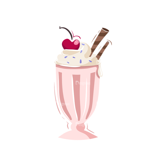 Drinks Glass Of Icecream Clip Art - SVG & PNG glass