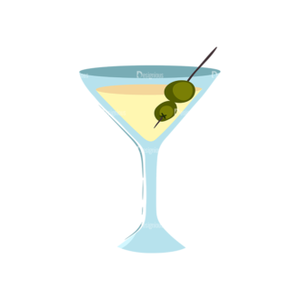 Drinks Glass Of Martini Clip Art - SVG & PNG glass