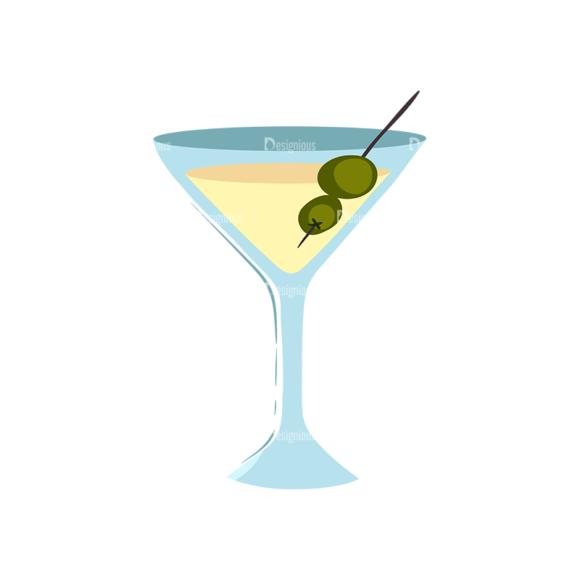 Drinks Glass Of Martini 1