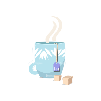Drinks Tea Cup With Sugar Clip Art - SVG & PNG vector