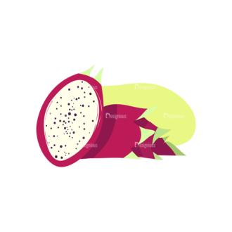 Exotic Fruits Pitaya Clip Art - SVG & PNG vector