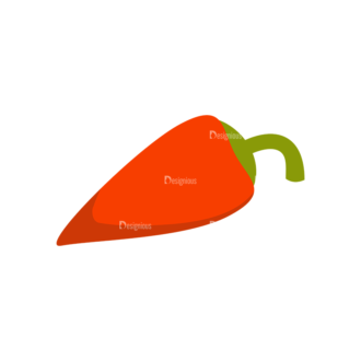 Farming Plants Red Peper Clip Art - SVG & PNG vector