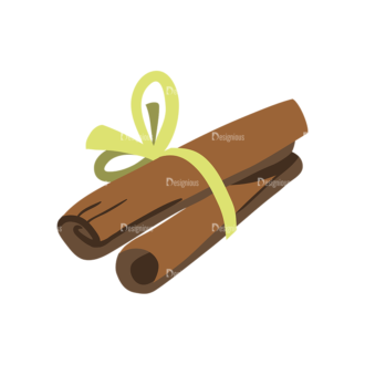 Herbs And Spices Cinnamon Clip Art - SVG & PNG vector