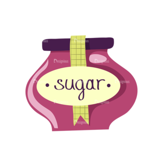 Herbs And Spices Sugar Jar Clip Art - SVG & PNG vector