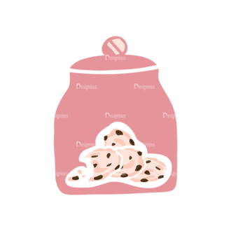 Pastry And Cookies Cockies Jar Clip Art - SVG & PNG vector