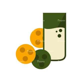 Breakfast Icons Vector Set 1 Vector Cookies Clip Art - SVG & PNG vector