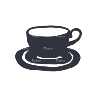 Coffee  And  Tea Set 17 Vector Small Cup 04 Clip Art - SVG & PNG vector