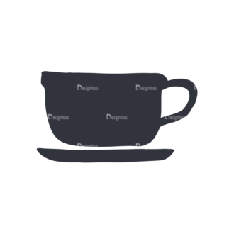 Coffee  And  Tea Set 17 Vector Small Cup 07 Clip Art - SVG & PNG vector