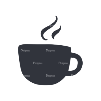 Coffee  And  Tea Set 17 Vector Small Cup 10 Clip Art - SVG & PNG vector