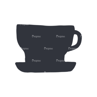 Coffee  And  Tea Set 17 Vector Small Cup 11 Clip Art - SVG & PNG vector
