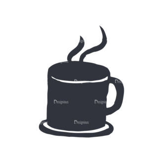 Coffee  And  Tea Set 17 Vector Small Cup 13 Clip Art - SVG & PNG vector