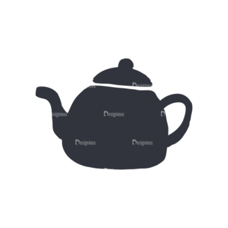 Coffee  And  Tea Set 17 Vector Small Kettle Clip Art - SVG & PNG vector