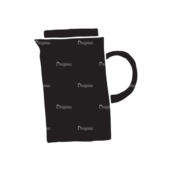 Coffee Elements Set 1 Vector Small Pitcher 08 Food drinks coffee elements set 1 vector small pitcher 08