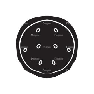 Coffee Elements Set 1 Vector Small Pizza Clip Art - SVG & PNG vector