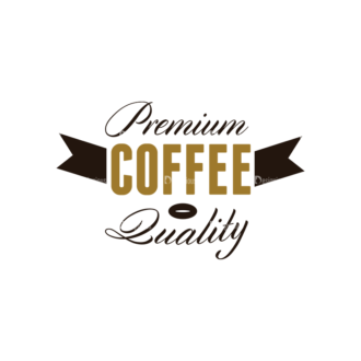 Coffee Labels And Badges Vector Set Vector Premium Coffee Clip Art - SVG & PNG vector