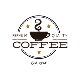 Coffee Labels And Badges Vector Set Vector Coffee 07 Clip Art - SVG & PNG vector