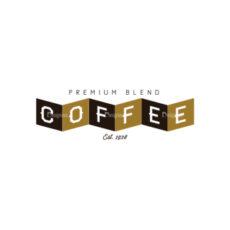 Coffee Labels And Badges Vector Set Vector Premium Blend Clip Art - SVG & PNG vector