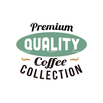 Coffee Typographic Elements Vector Text 01 Clip Art - SVG & PNG vector