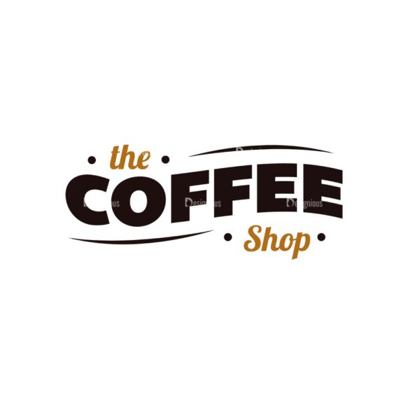 Coffee Typographic Elements Vector Text 04 5
