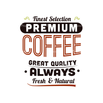 Coffee Typographic Elements Vector Text 07 Clip Art - SVG & PNG vector