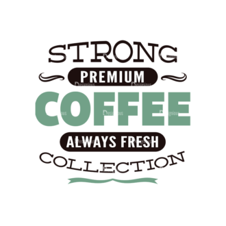 Coffee Typographic Elements Vector Text 08 Clip Art - SVG & PNG vector