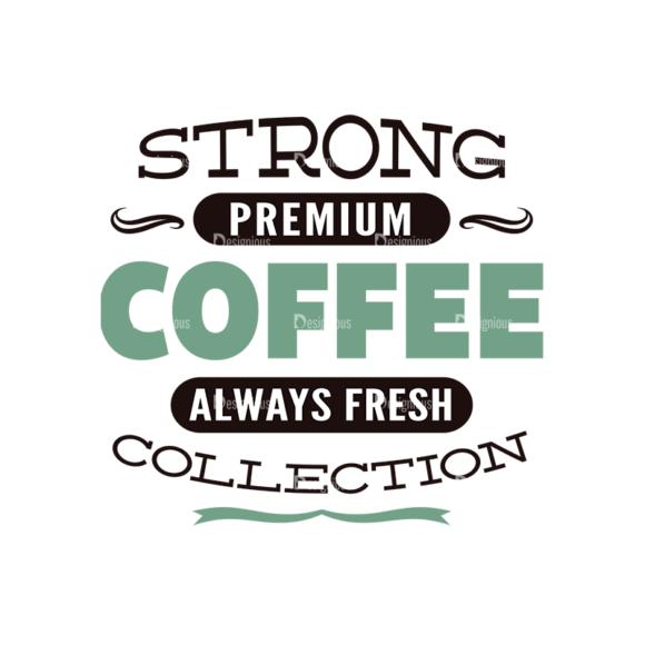 Coffee Typographic Elements Vector Text 08 5