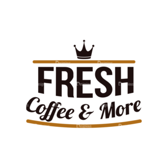 Coffee Typographic Elements Vector Text 09 Clip Art - SVG & PNG vector