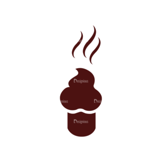 Coffee Vector Elements Set 1 Vector Cupcake Clip Art - SVG & PNG vector