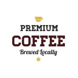 Coffee Vector Text 07 Clip Art - SVG & PNG vector