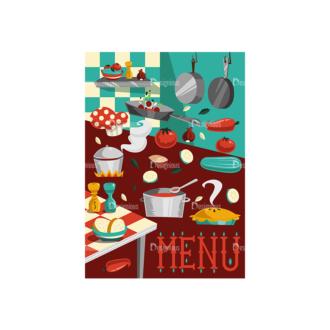 Colorful Menu Set 1 Vector Menu 01 Clip Art - SVG & PNG vector