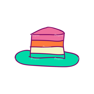 Designtnt Tea Doodle Vector Set 3 Vector Cake Clip Art - SVG & PNG vector