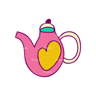 Designtnt Tea Doodle Vector Set 3 Vector Kettle 07 Clip Art - SVG & PNG vector