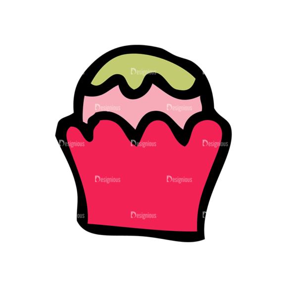 Designtnt Tea Party Vector Set 1 Vector Cupcake 14 5