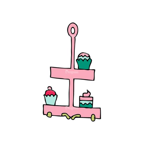 Designtnt Tea Party Vector Set 1 Vector Cupcakes Food drinks designtnt tea party vector set 1 vector cupcakes