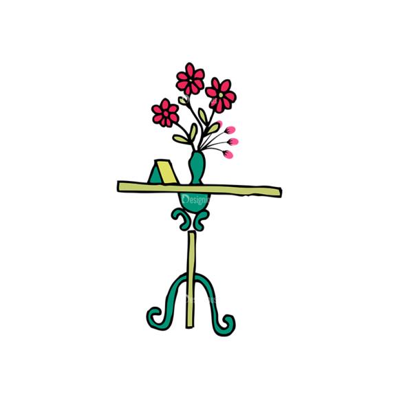 Designtnt Tea Party Vector Set 1 Vector Flower 08 5