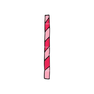 Designtnt Tea Party Vector Set 1 Vector Straw Clip Art - SVG & PNG straw