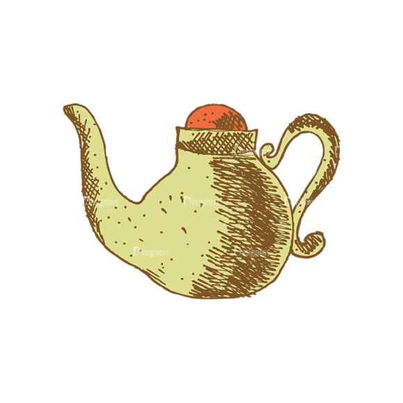 Designtnt Tea Vector Set 1 Vector Kettle 01 Food drinks designtnt tea vector set 1 vector kettle 01
