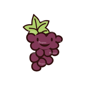 Doodle Fruits Vector Set 1 Vector Grapes Clip Art - SVG & PNG vector