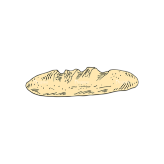 Engraved Bakery Vector Set 1 Vector Bread 02 Clip Art - SVG & PNG vector