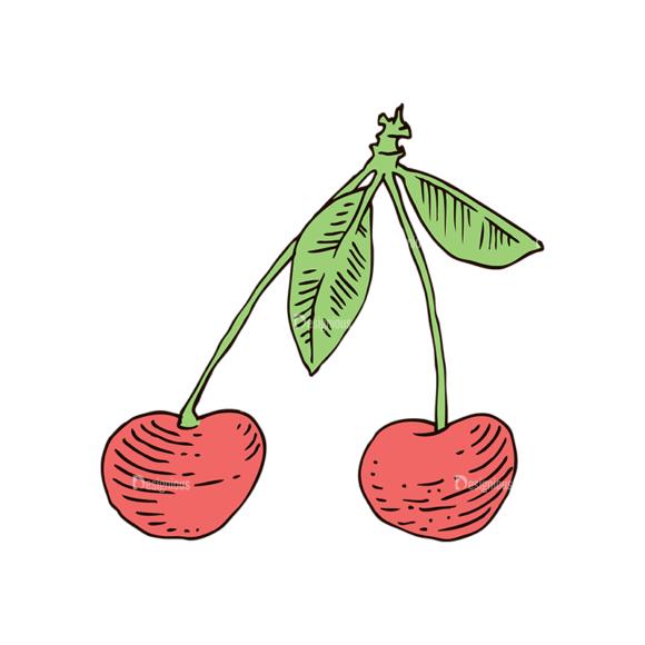 Engraved Cherries Vector Set 1 Vector Cherries 03 Food drinks engraved cherries vector set 1 vector cherries 03