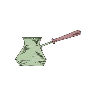 Engraved Coffee Vector Set 1 Vector Pot Clip Art - SVG & PNG vector
