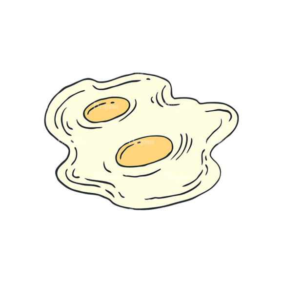 Engraved Kitchen And Cooking Vector Set 1 Vector Egg 1