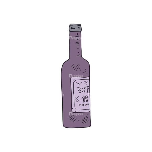 Engraved Restaurant Vector Set 1 Vector Wine 1