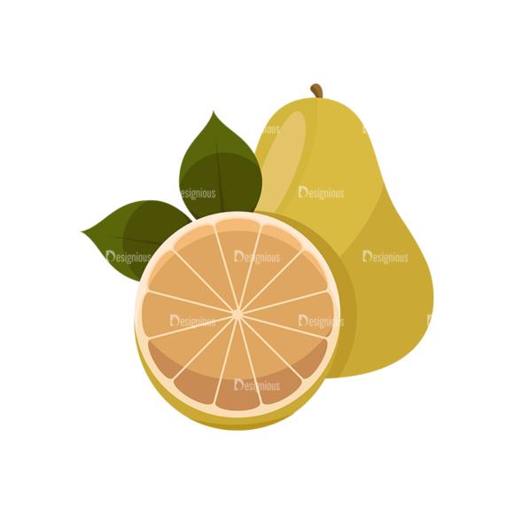 Exotic Fruits Vector Set 1 Vector Lemon 03 1