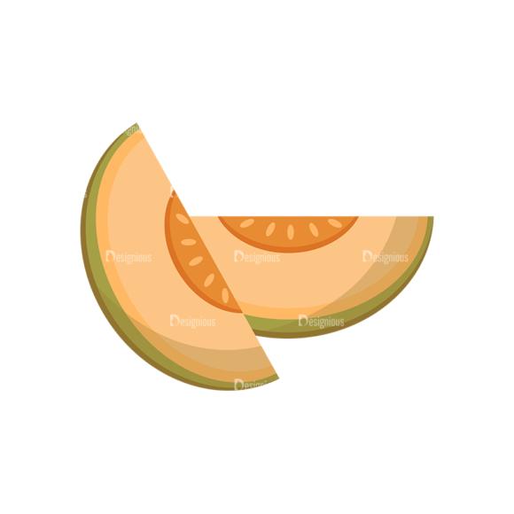 Exotic Fruits Vector Set 1 Vector Melon 1