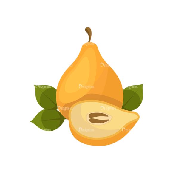 Exotic Fruits Vector Set 1 Vector Pear 1