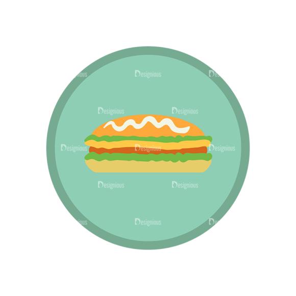 Fast Food Vector Set 1 Vector Burger 07 1