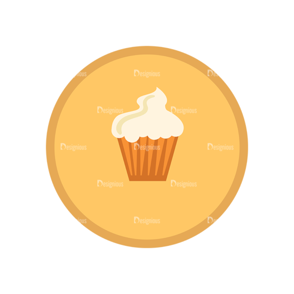 Fast Food Vector Set 1 Vector Cup Cakes 1